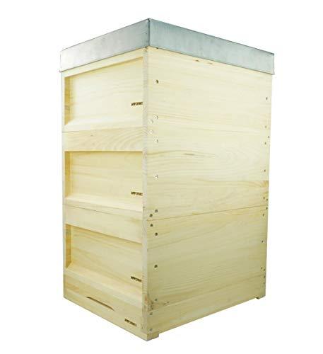 APIFORMERS Deutsch Normal Maß-DN - aus Weymouthskiefer - Bienen - Nachhaltig - Imkereibedarf - 10 Waben - Massivholz - Naturprodukte - Tierzubehör