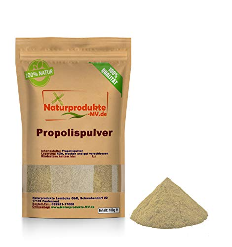 Propolispulver frisch, gereinigt(100g) ohne Wachsanteil, Propolis Extrakt Pulver