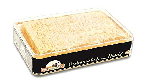 ImkerPur Honigwabe in hocharomatischem Akazien-Honig, 400 g, in hochwertiger Frischebox (400 g)