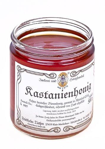 Edel-Kastanienhonig 500g – kräftig aromatisch, naturbelassen (von Imkerei Nordheide)   Deutscher Honig vom Imker