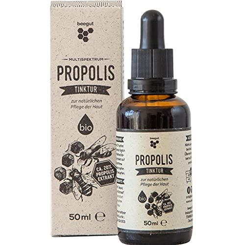 beegut Propolis Tropfen 50ml mit 20% natürlichem Propolis-Extrakt, flüssiges Propolis in hochwertiger Imkerqualität, Schutzharz der Bienen