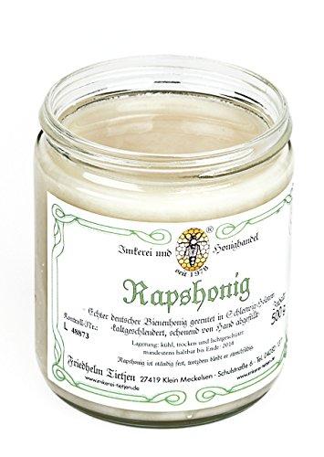 Rapshonig 500g – mild aromatisch, naturbelassener Honig (von Imkerei Nordheide) | Deutscher Honig vom Imker