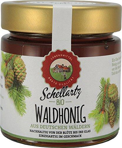 Bio Waldhonig, kontrollierte Qualität vom deutschen Bio-Imker, von Sammelstellen in Deutschland, naturbelassen, unbehandelt und unfiltriert 250g